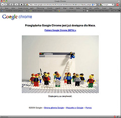 Google Chrome for MAcintosh web page
